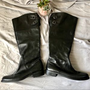 Vince Camuto Keaton Black Leather Riding Boot 8.5